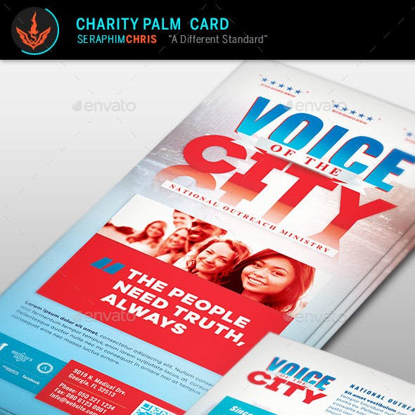 Voice of the City Charity Rack Card Template
