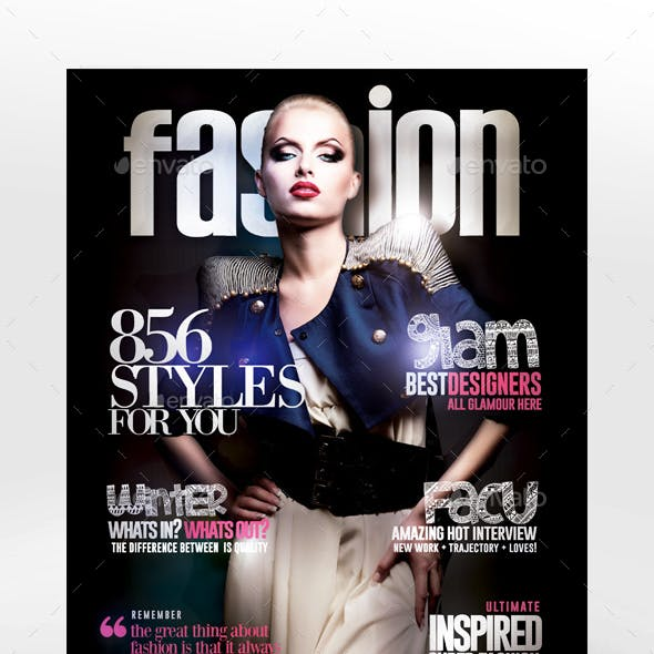 Fashion Magazine Cover Flyer Template
