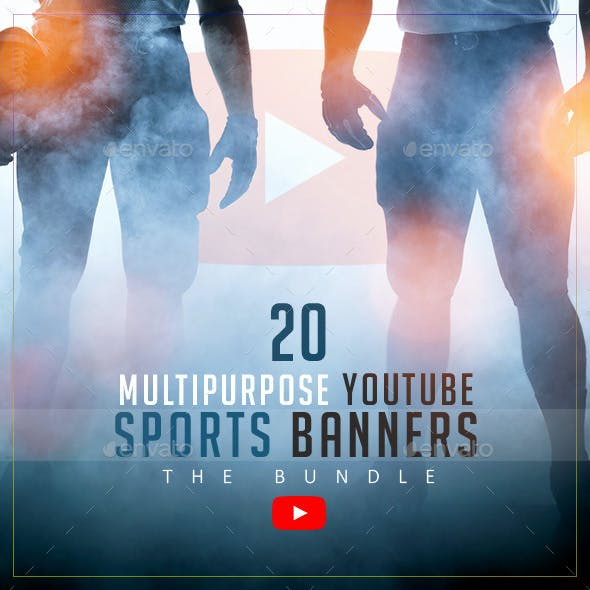 YouTube Sports Bundle - 20 Multipurpose Banners