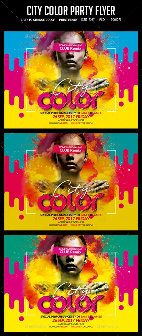 City Color Party Flyer - Clubs & Parties Events
