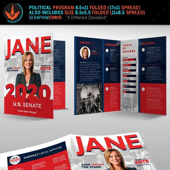 Jane Political Brochure Template 1