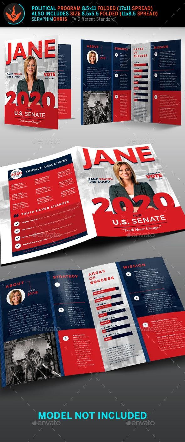 Jane Political Brochure Template 1 - Corporate Brochures