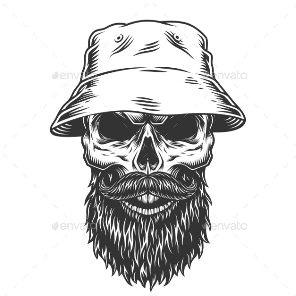 Skull in the Panama Hat - Miscellaneous Vectors