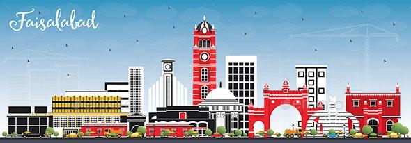 Faisalabad Pakistan City Skyline - Buildings Objects