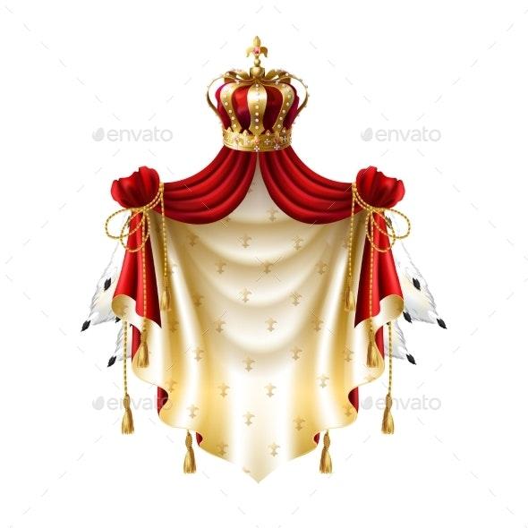 Vector Royal Balanchine with Crown - Decorative Symbols Decorative