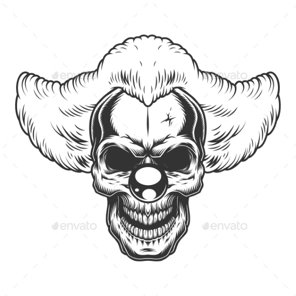 Skull Angry Clown - Miscellaneous Vectors