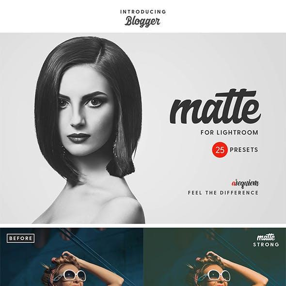 Matte Blogger Lightroom Presets