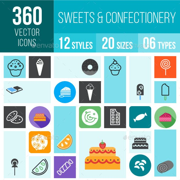 360 Sweets Icons