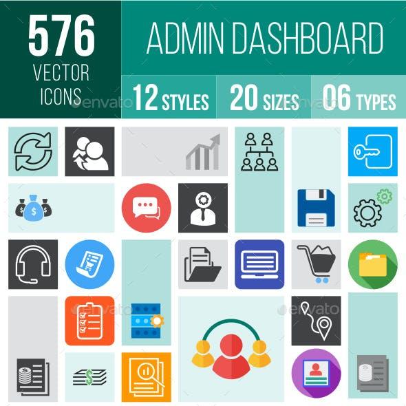 576 Admin Dashboard Icons