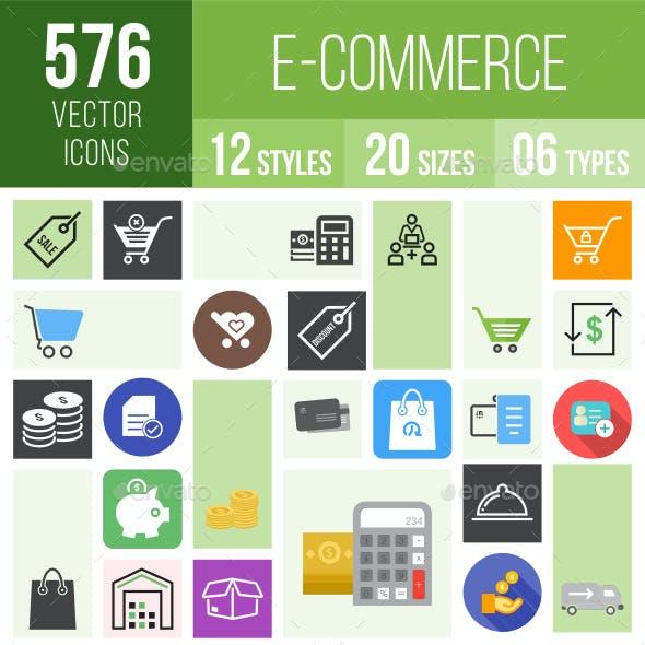 576 Ecommerce Icons