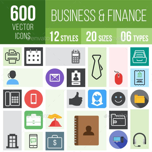 600 Business Icons