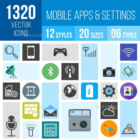 1320 Apps/Settings Mobile Icons