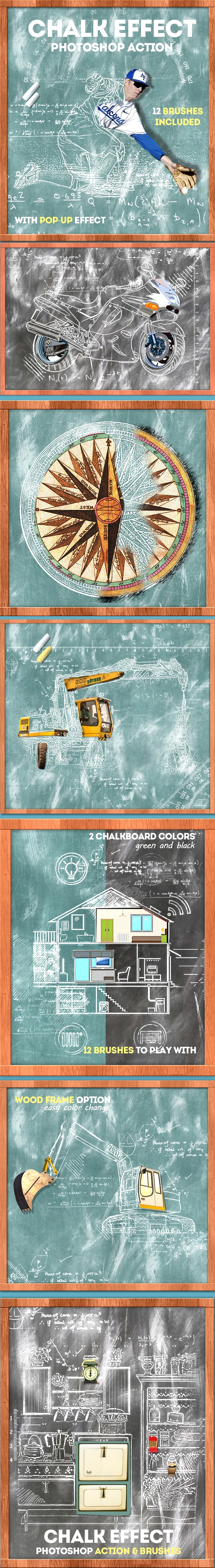 Chalk Effect Photoshop Action - Photo Effects Actions