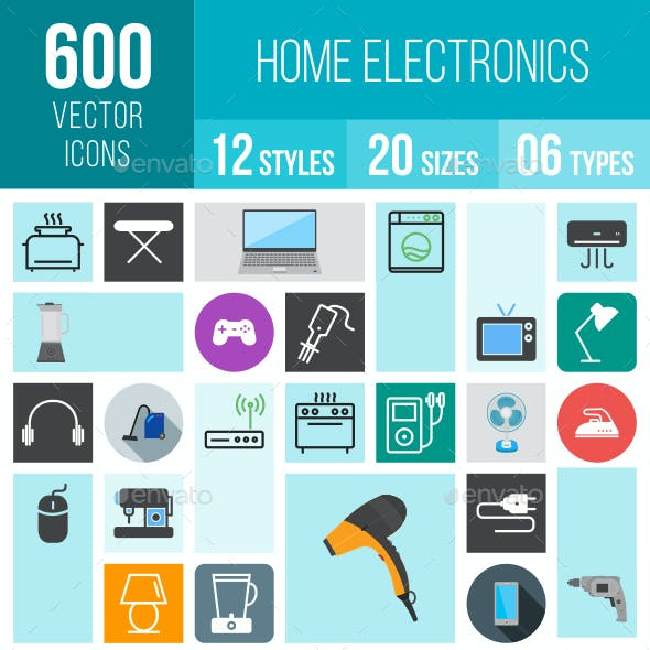 Home Electronics Icons