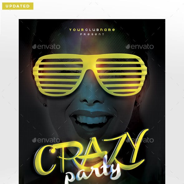 Crazy Party Flyer Template