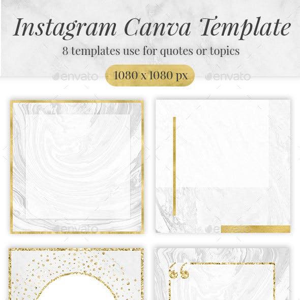 Golden Marble Canva Social media Template