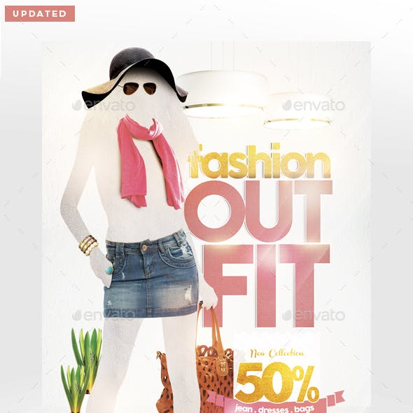 Fashion Outfit Flyer Template