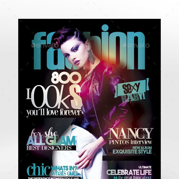 Glam Magazine Cover Flyer Template