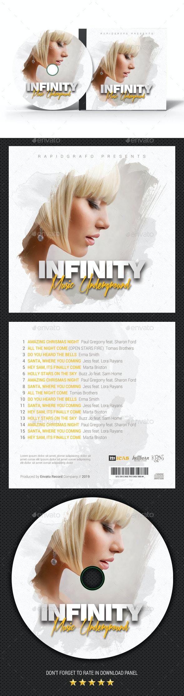Infinity Music CD Cover - CD & DVD Artwork Print Templates