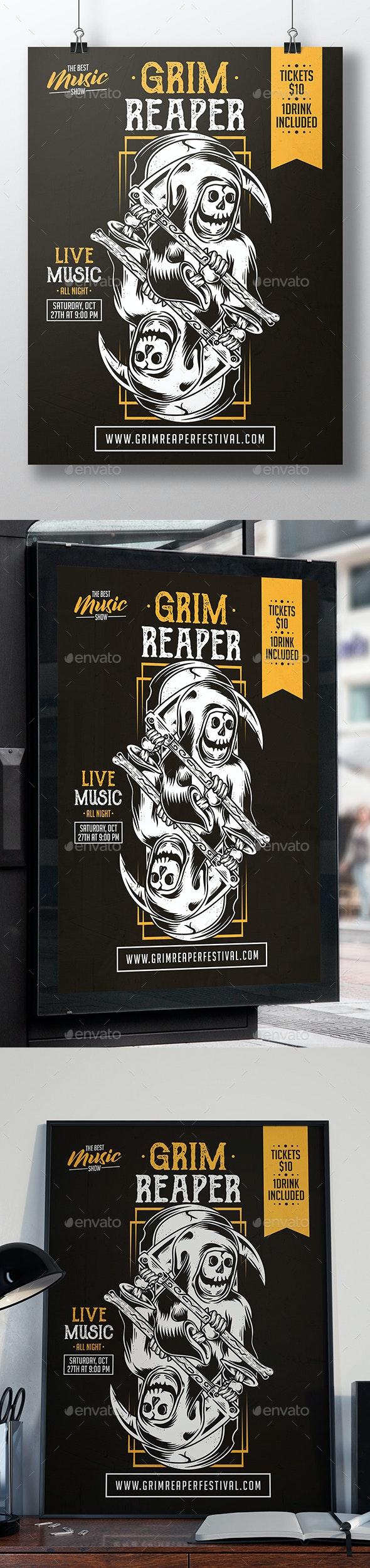Grim Reaper Flyer Template - Concerts Events