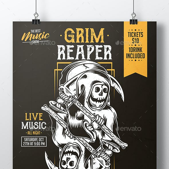 Grim Reaper Flyer Template