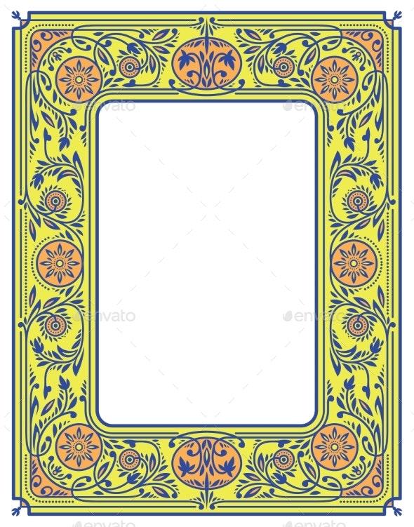 Floral Border Or Frame By Deepfuze Graphicriver