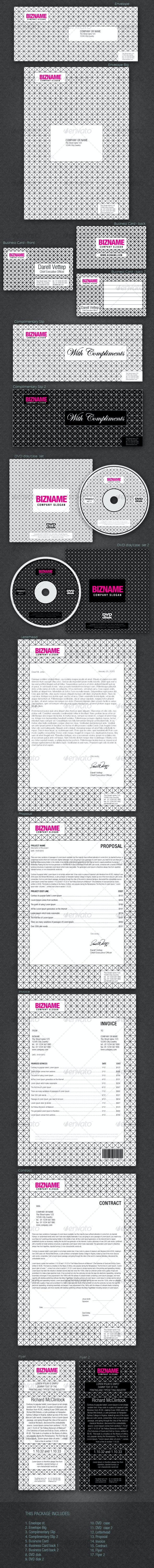 FULL CORPORATE ID PACKAGE - BIZNAME v2 - Stationery Print Templates