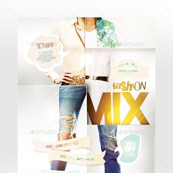 Fashion Mix Flyer Template