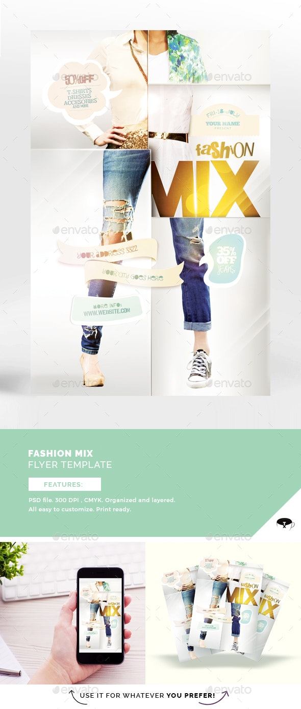 Fashion Mix Flyer Template - Flyers Print Templates