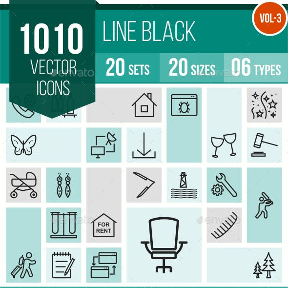 1010 Vector Line Icons