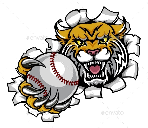 Wildcat Holding BaseballBreaking Background - Sports/Activity Conceptual