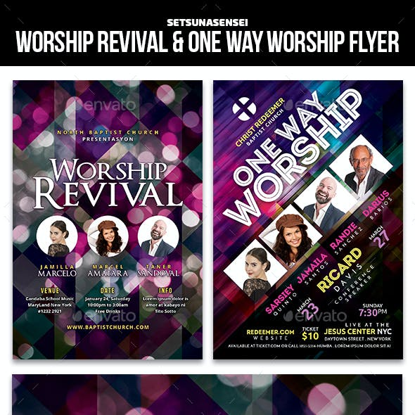 Worship Revival & One Way Worship Flyer