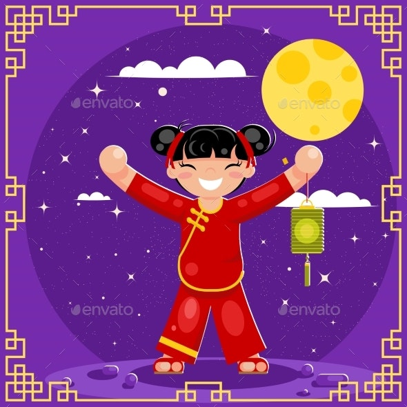 Harvest Moon Mid-Autumn Festival Holiday Asia - People Characters