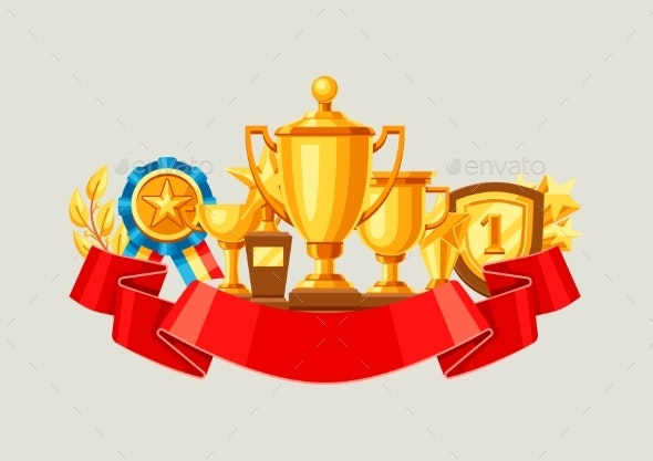 Awards and Trophy Background - Sports/Activity Conceptual