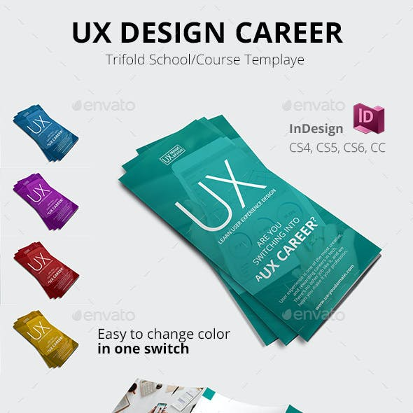 UX Design School Trifold
