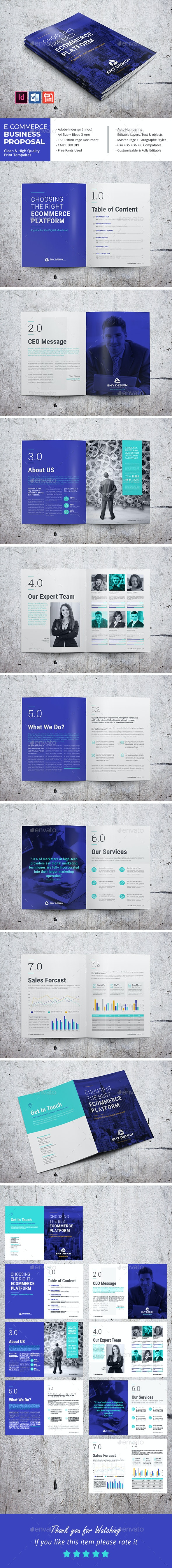E-Commerce Business Proposal - Corporate Brochures