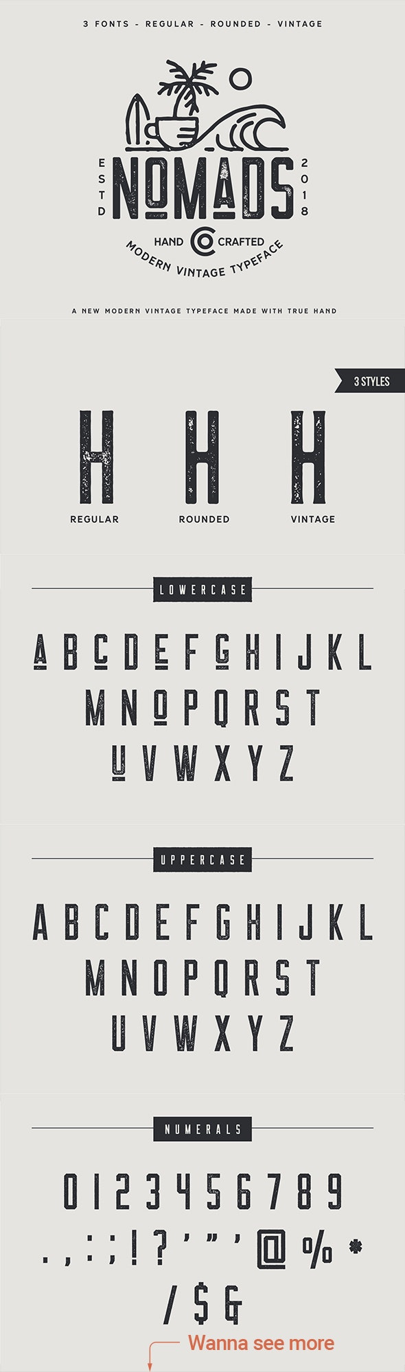 The Nomads Font - Condensed Typeface - Sans-Serif Fonts