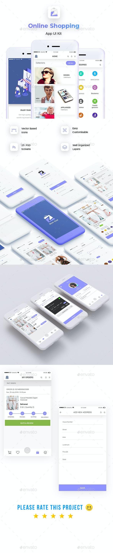 Online Shopping App UI - User Interfaces Web Elements