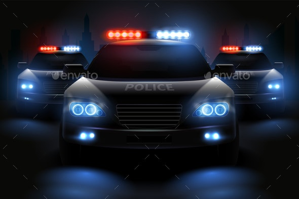 Police Light Bar Composition - Miscellaneous Vectors