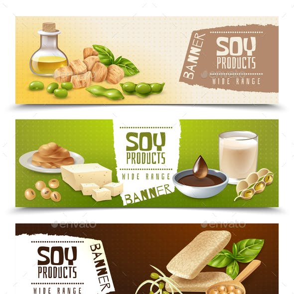 Soy Products Horizontal Banners