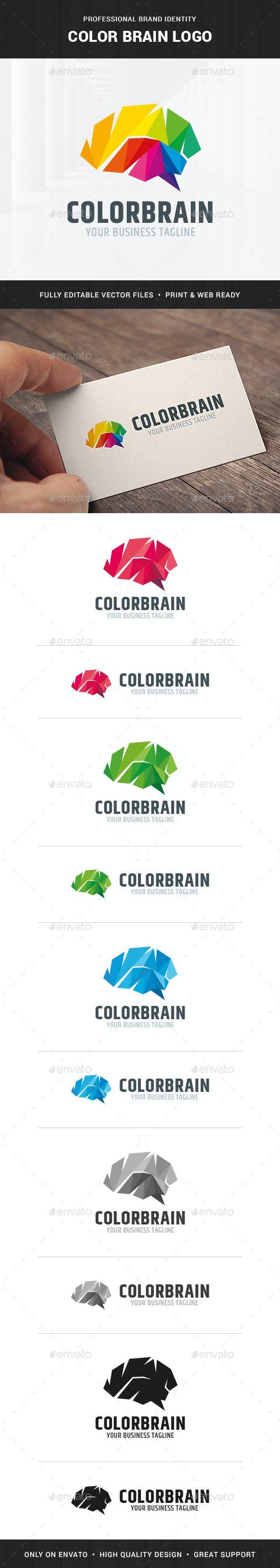 Color Brain Logo Template - Humans Logo Templates