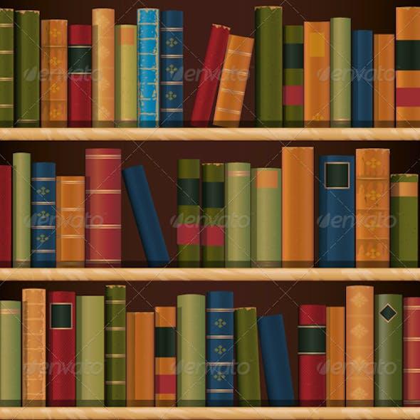 Old Book shelf Repeat Pattern