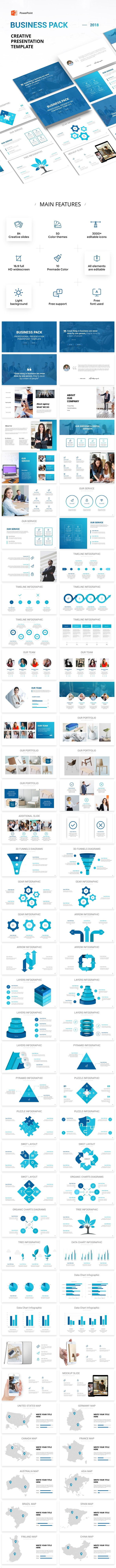Business Pack PowerPoint Presentation Template - Pitch Deck PowerPoint Templates