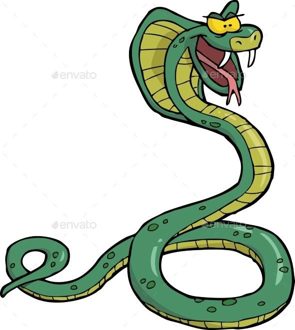 Cartoon Snake Cobra - Animals Characters