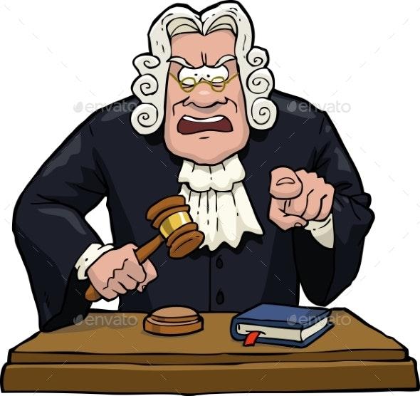 Cartoon Judge Accuses - People Characters