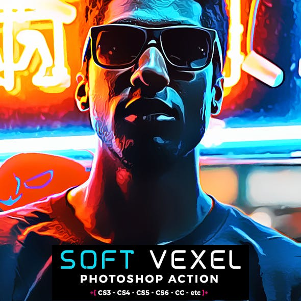 Oil Vexel Photoshop Action