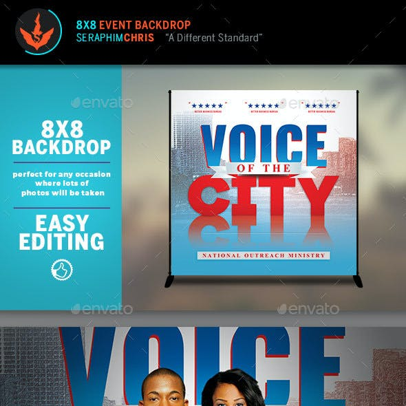 Voice of the City Charity Backdrop Template