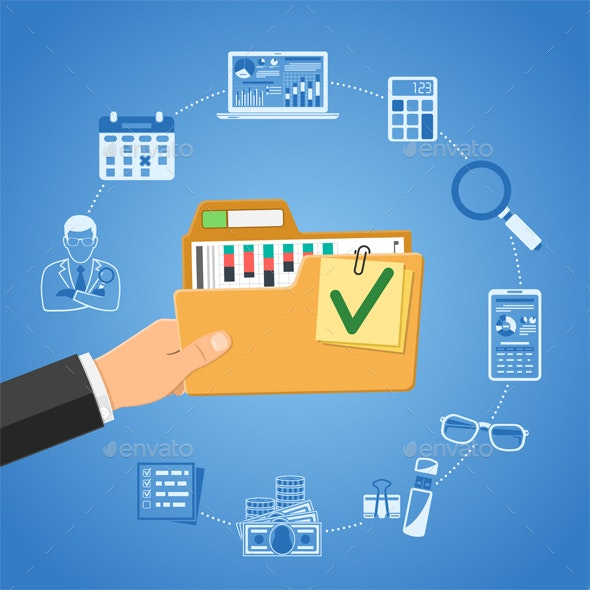 Auditing, Tax Accounting Concept - Services Commercial / Shopping