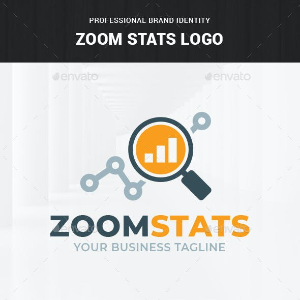Zoom Stats Logo Template