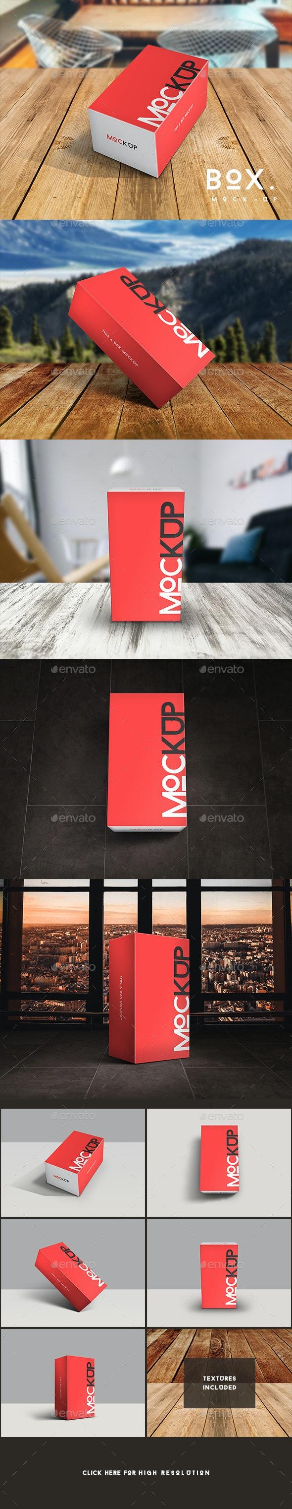 Mobile Box Mockup - Packaging Product Mock-Ups